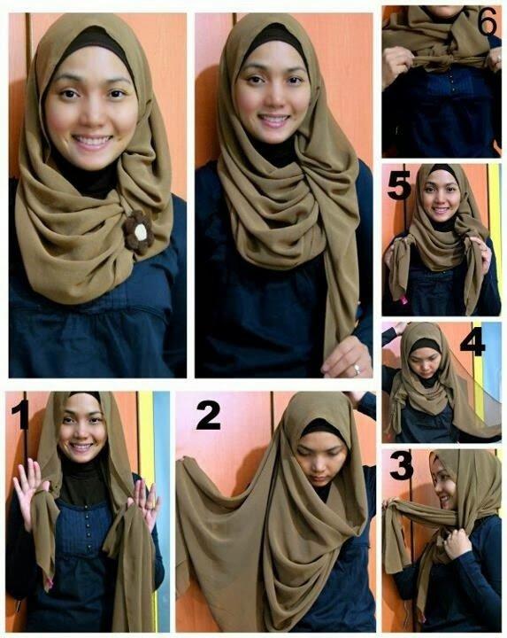 بالصور خطوات لف الحجاب بأكثر من شكل صوره رقم 13 #الحجاب