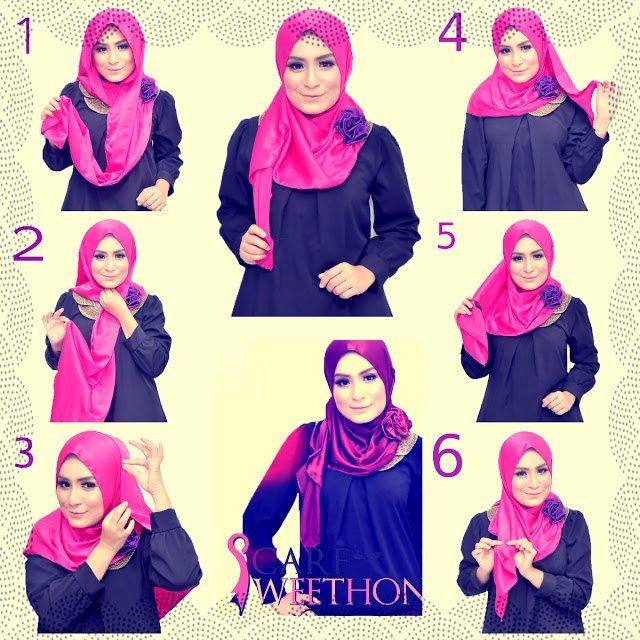 بالصور خطوات لف الحجاب بأكثر من شكل صوره رقم 20 #الحجاب