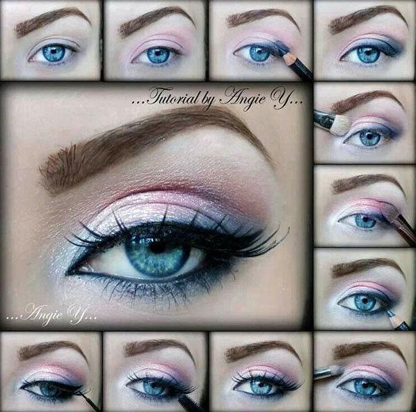 طريقة رسم #مكياج مبهر للعيون #مكياج صوره رقم 8