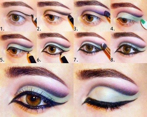 طريقة رسم #مكياج مبهر للعيون #مكياج صوره رقم 2