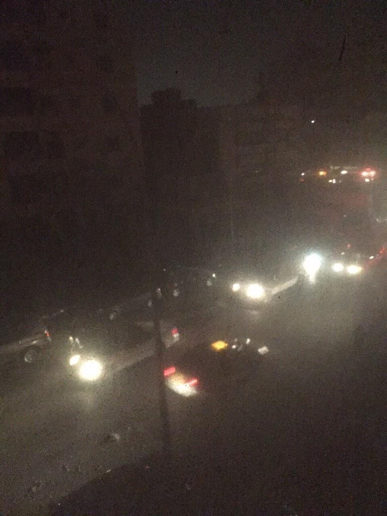 صورة متداولة لعمارات محافظة حولي #الكويت #انقطاع_الكهرباء_بالكويت #انقطاع_الكهرباء
