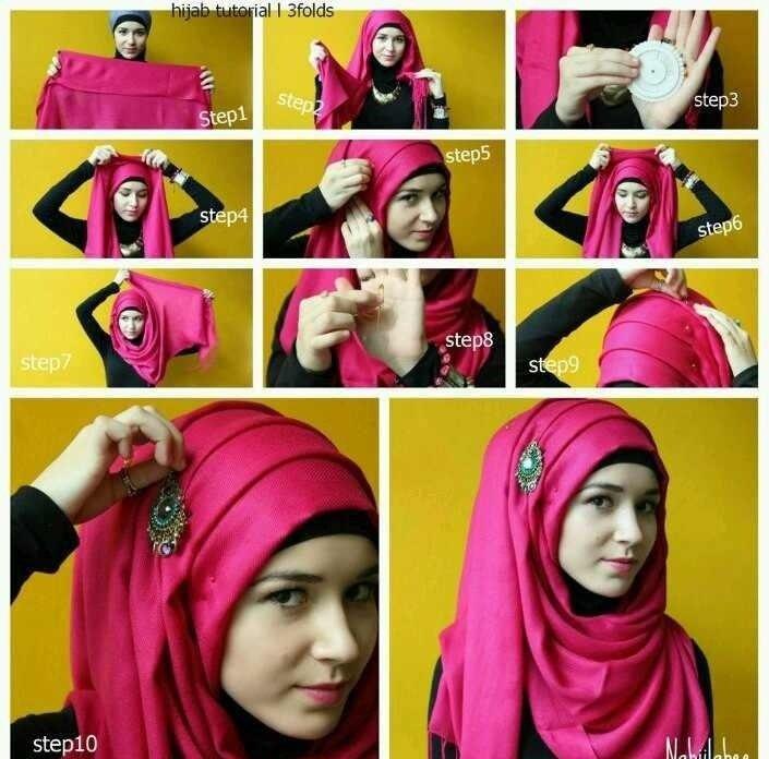 بالصور خطوات لف الحجاب بأكثر من شكل صوره رقم 25 #الحجاب