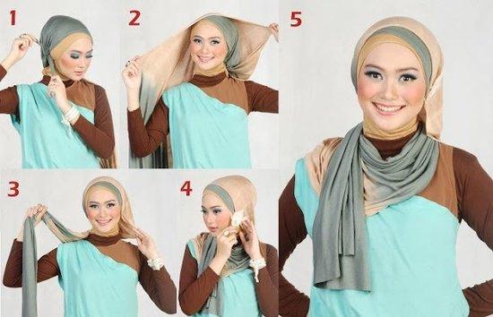 بالصور خطوات لف الحجاب بأكثر من شكل صوره رقم 23 #الحجاب