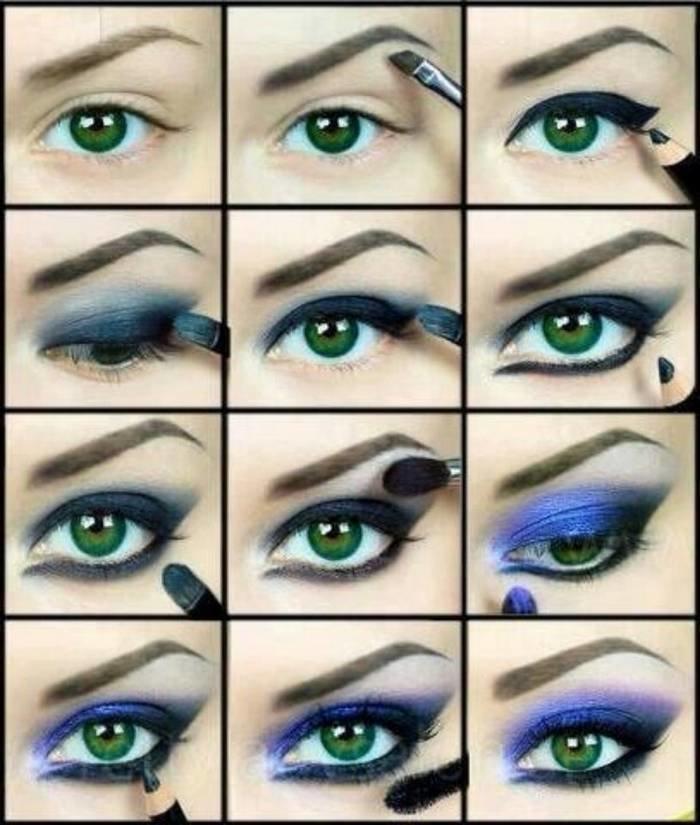 طريقة رسم #مكياج مبهر للعيون #مكياج صوره رقم 12