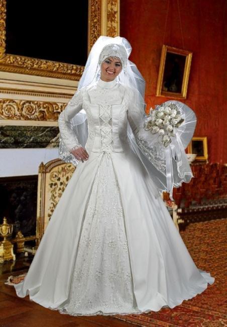 احدث موضة #صور #فساتين #زفاف #للمحجبات 2015 صوره رقم34