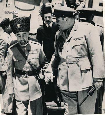 الملك عبدالله الأول بن الحسين برفقة الملك فاروق #مصر #عمان #الأردن #القاهره