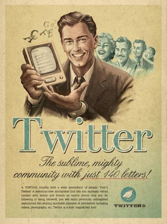 If #twitter was invented in the 60s then this might be the ad #Marketing
