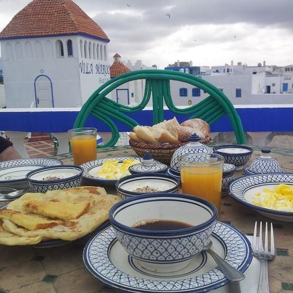 فطور مغربي من مدينة الصويرة #المغرب