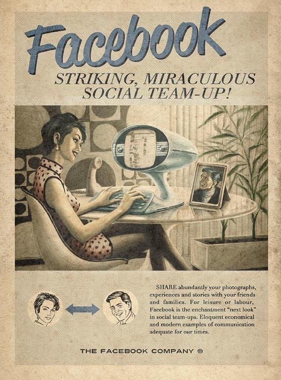 If #facebook was invented in the 60s then this might be the ad #Marketing