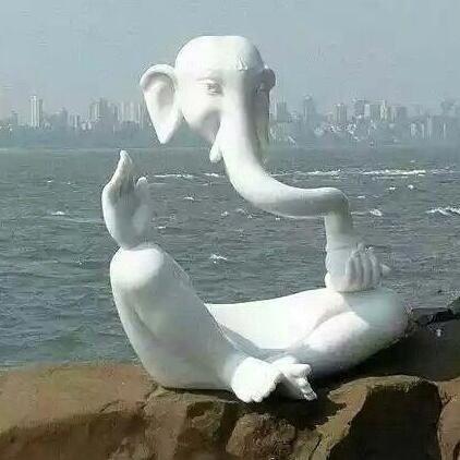 تمثال منفذ بطريقة مبدعة في #الهند