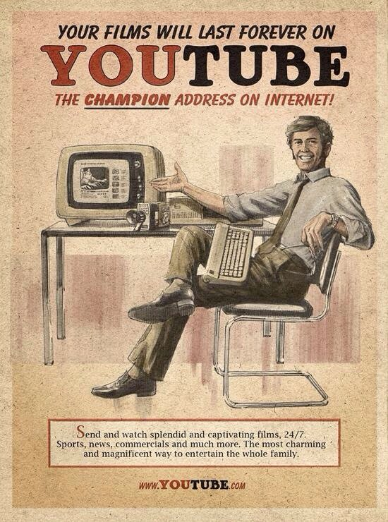 If #Youtube was invented in the 60s then this might be the ad #Marketing