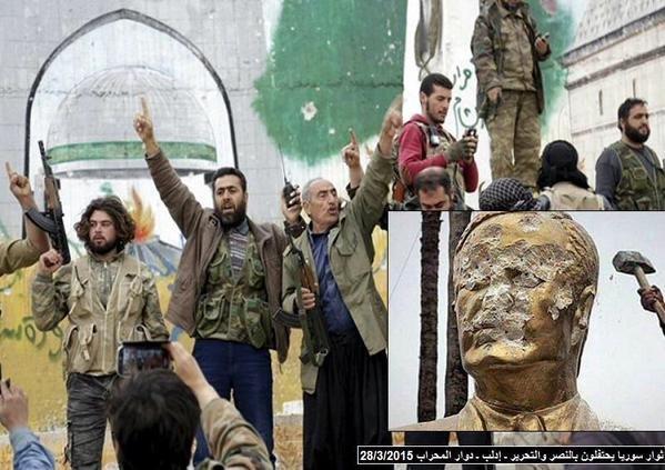 #صورة مثال #حافظ_الأسد في إدلب #إدلب_تتحرر