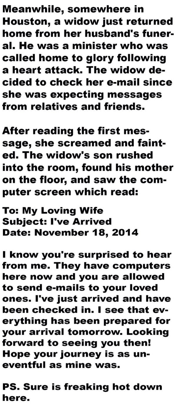 A man made a mistake with his wife's email-the email