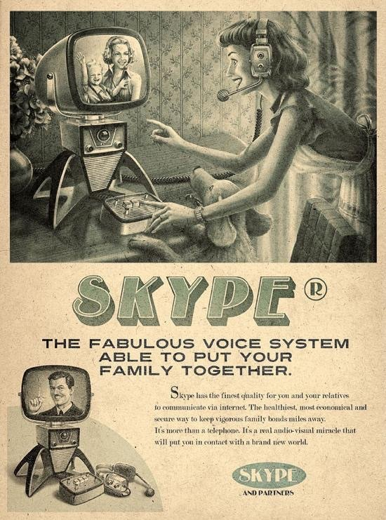 If #skype was invented in the 60s then this might be the ad #Marketing