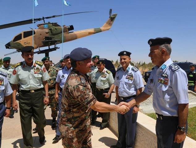 جلالة الملك عبدالله الثاني، القائد الأعلى للقوات المسلحة، يزور قاعدة الشهيد موفق السلطي الجوية #ارفع_راسك#الأردن #Jordan #JO #الجيش_العربي
