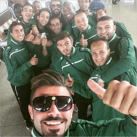 صوره #سيلفي لاعبين #الوحدات من #لبنان #كوره #الاردن