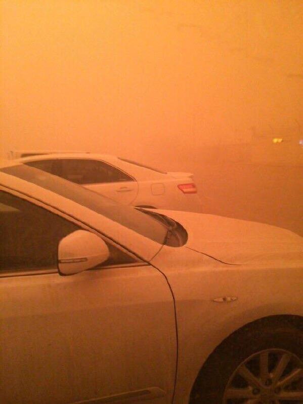 #صورة العاصفة الرملية على منطقة #القصيم قبل قليل .. #غبار_القصيم #غبار_السعودية