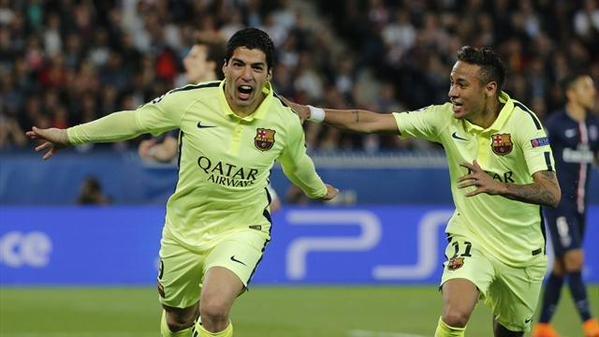 #برشلونة يفوز على #سان_جيرمان بثلاثية في#أبطال_أوروبا