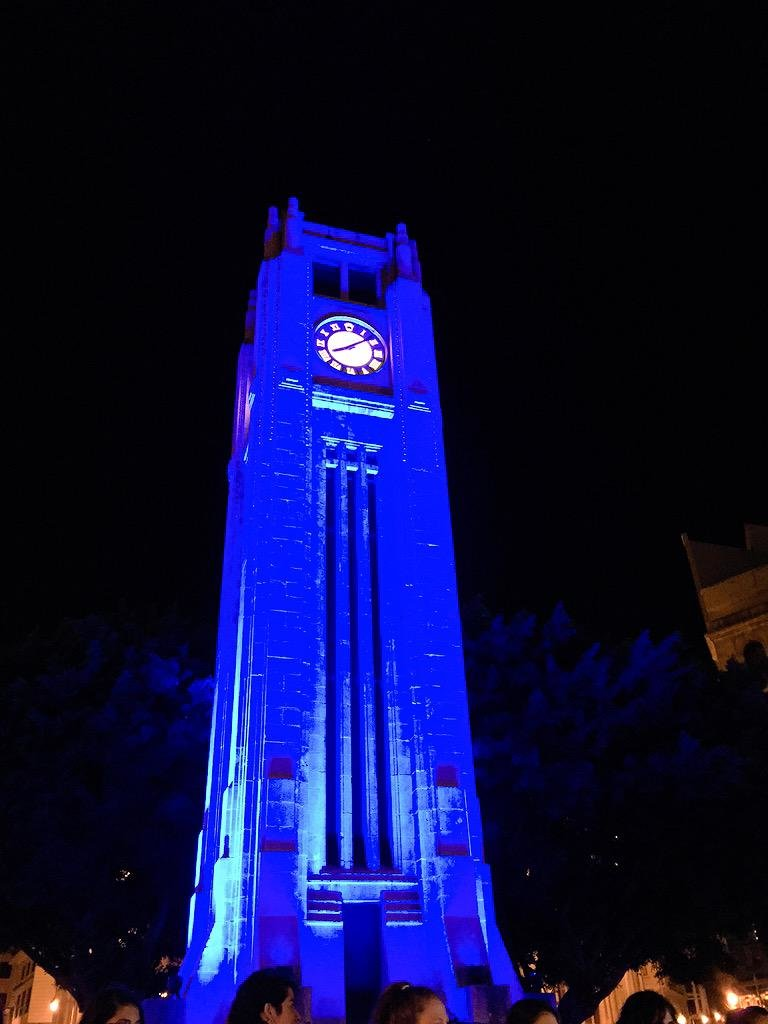 ساحة النجمة بالأزرق #منتوحد_حول_التوحد