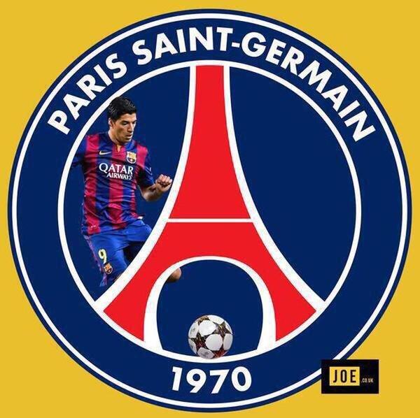 صورة متداولة عبر التواصل الإجتماعي بعد كباري #لويس_سواريز في مباراة #باريس_برشلونة