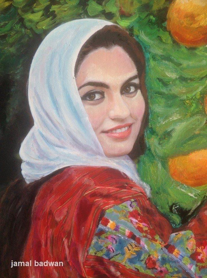 لوحة للفنان العالمي جمال بدوان بعنوان اليافاوية