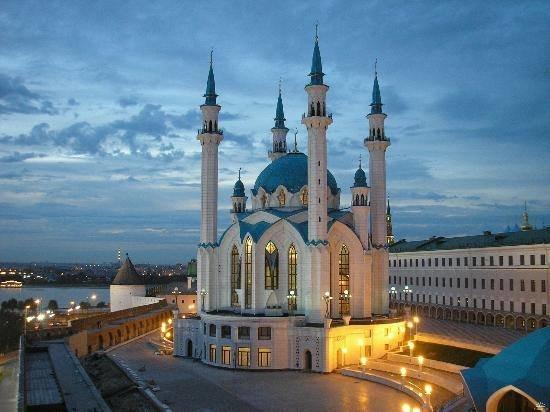 جمعه مباركه #مسجد قول شريف في روسيا من أجمل مساجد أوروبا ..