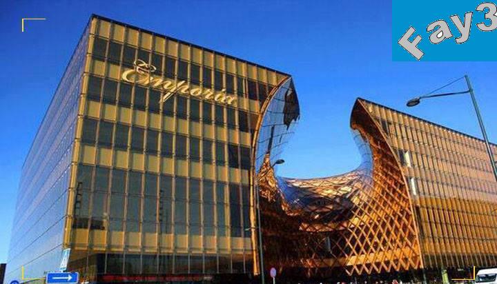 مول emporia العجيب في السويد والفريد من نوعه يتميز تصميمة بالغرابة والحداثة يبدو التصميم وكأنة يذوب من أشعة الشمس !!