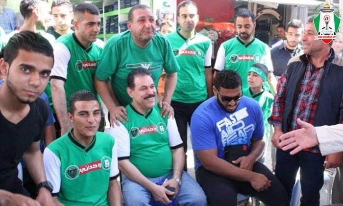 كفاح الكعبي الاعلامي الامارتي و مشجع #الوحدات مع جمهور الوحدات #كوره