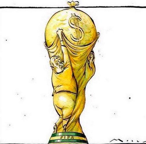 انتشار كاريكاتيرات معبرة احتجاجا على فوز بلاتر برئاسة الفيفا - #كاريكاتير ٥