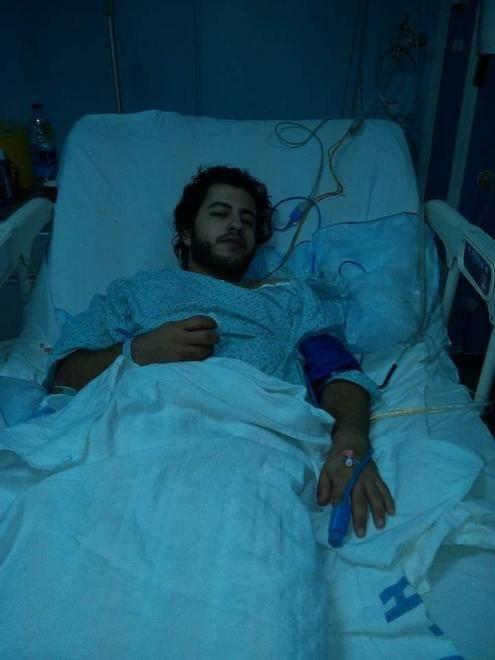 موسى الحوراني احد المصابين في سقوط القذائف على مدينة #الرمثا