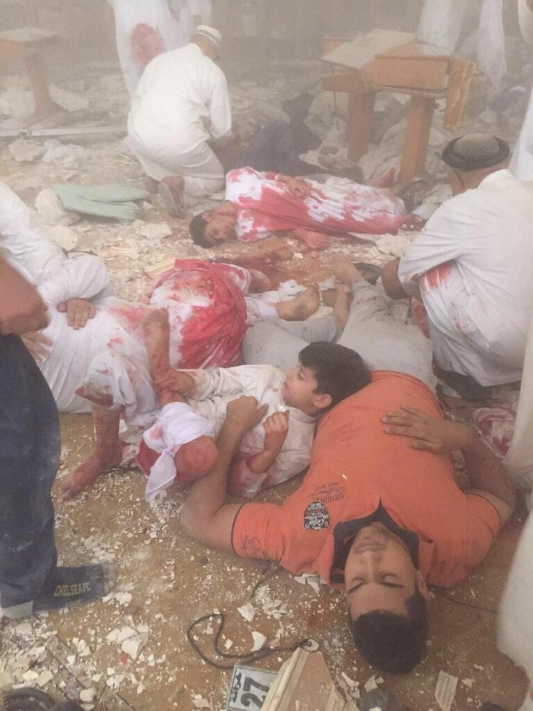 صورة مؤلمة جدا - أطفال #تفجير_مسجد_الامام_الصادق #الكويت