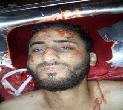 صورة للشهيد عبدالمنعم الحوراني وهو يبتسم بعد استشهاده #الرمثا #الحوراني_جندي_كلنا_جنود