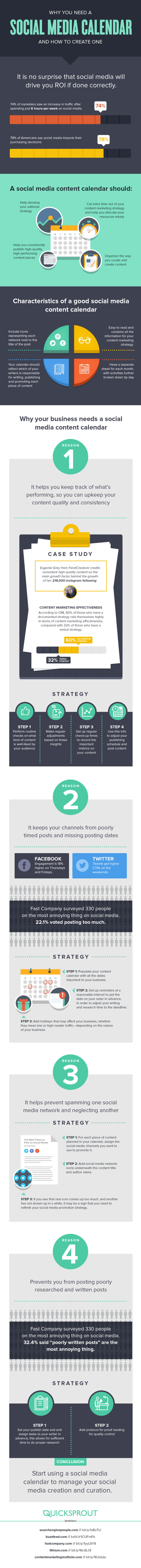 How to Create a Social Media Content Calendar Your Followers Will Love #Infographic