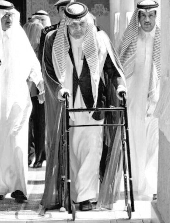 #سعود_الفيصل قبل وفاته -حالتي الصحية كحالة الأمة العربية-