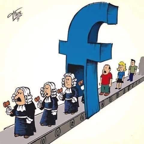 الفاضي بال#فيسبوك بيعمل قاضي