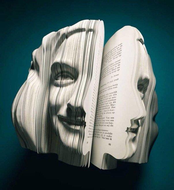منحوتات مبدعة باستخدام كتب - صورة ١٢
