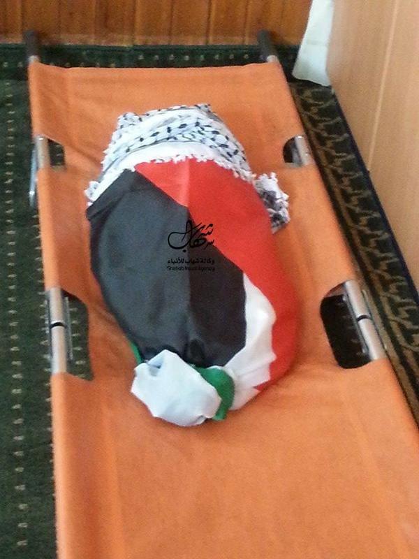 جثمان الطفل علي دوابشه الذي احرقه المستوطنون صباح اليوم #حرقوا_الرضيع