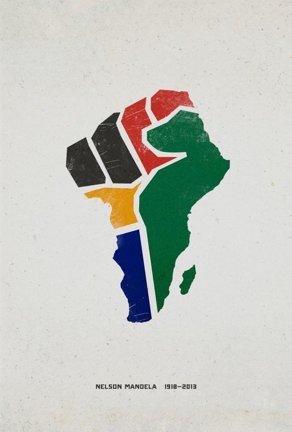 ملصق نعي نيلسون مانديلا