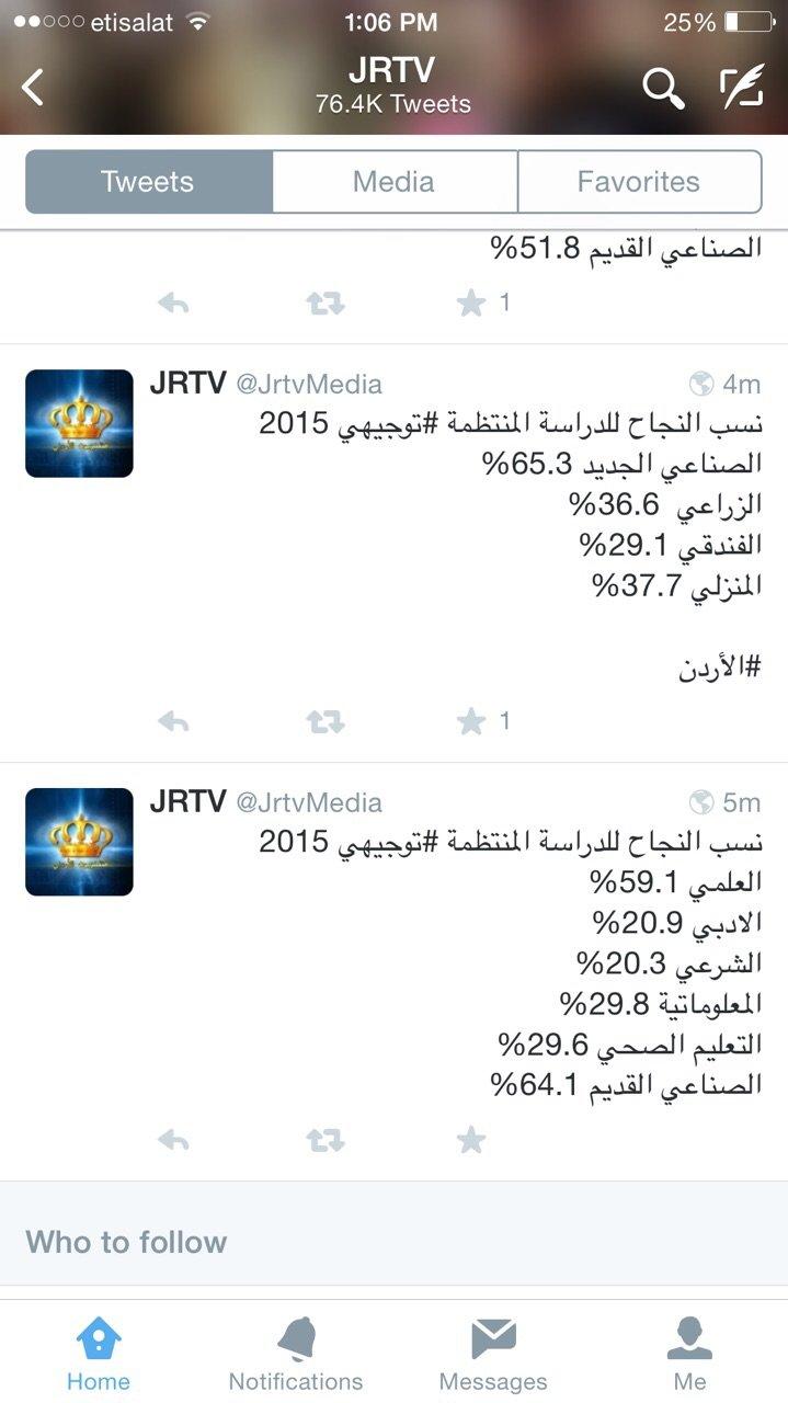 نسب النجاح في الثانوية العامة #الأردن #التوجيهي