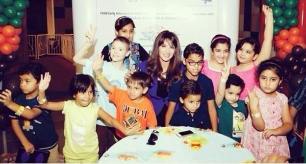 ديانا حداد تزور مركز اطفال التوحد في دبي #مشاهير