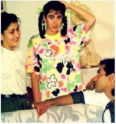 صورة نادرة تجمع #سلمان_خان مع كارينا كابور منذ أن كانت طفلة