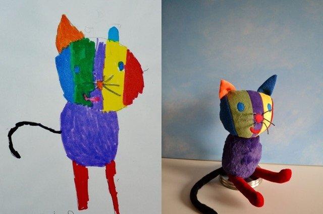 فنان يحول رسومات الصغار إلى ألعاب حقيقة #غرد_بصورة-صورة4