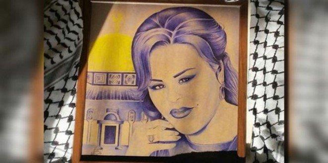 لوحة للفنانة #أحلام داخل سجون إسرائيل #مشاهير