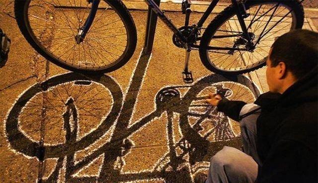 فن الرسم على الطريق والظل #غرد_بصورة- صورة 3