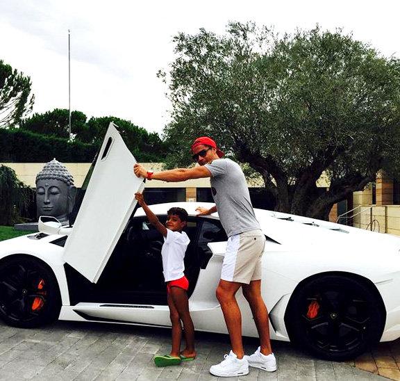 #رونالدو يقوم باشياء طفولية مع ابنه الصغير #كوره صوه رقم 3