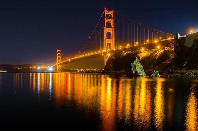 جسر البوابة الذهبية #كاليفورنيا #الولايات_المتحدة