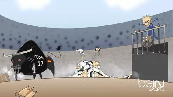 كاريكاتير بي ان سبورت #مورينهو يطلق اسلحة #برشلونة للعودة