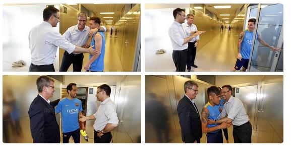 بارتوميو يرحب بـ ميسي و نيمار و برافو بعد عودتهم #برشلونه
