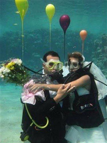 الزفاف تحت الماء آخر صيحات الموضة ب#مصر #غرد_بصوره صوره رقم 5