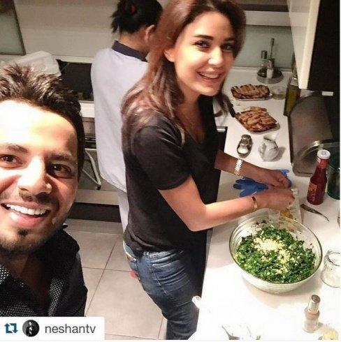 سيلفي سيرين ونيشان في المطبخ بعد إعلانها اعتزال التمثيل #مشاهير